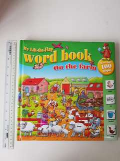 Word book - On the farm, 100 flaps