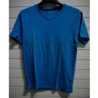 T-Shirt V-Neck Polos Blue