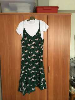 Green floral dress (white tee NOT included)