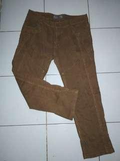 Brown Floral Pants
