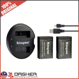 Kingma LP-E17 Dual Battery with Charger 1040mAh Canon Battery