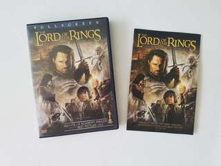 Original TLOR The Return of the King DVD