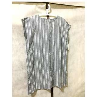 🚚 「日本帶回」長版 寬版 寬鬆 上衣 純棉 無袖 大尺碼 M號 洋裝