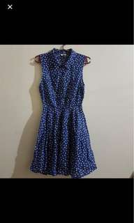 Polka dots dress (blue and white)