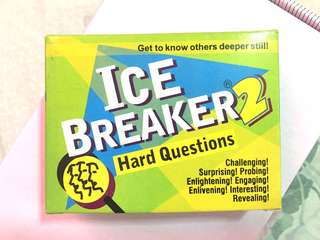 ICE BREAKER 2 - Hard Questions