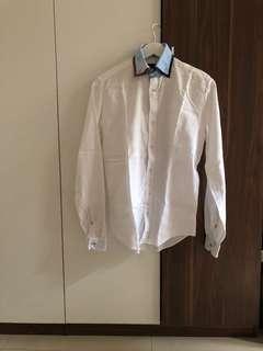 Baju Kemeja Zara dan Next Warna Putih