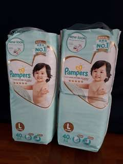 Pampers Premium Tape Diapers L