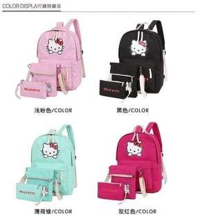 Hello kitty 3 in bag set