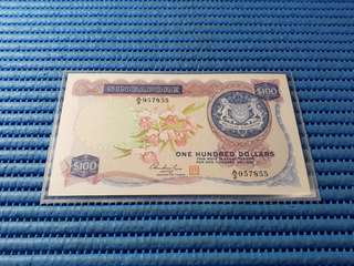 Singapore Orchid Series $100 Note A/3 957855 First Prefix A/3 Dollar Banknote Currency HSS