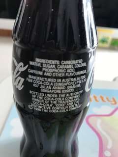 Vintage coca cola glass bottle 1996
