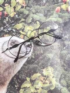 🚚 全新復古圓眼鏡