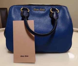 Miu Miu Madras Top Handle Leather Bag