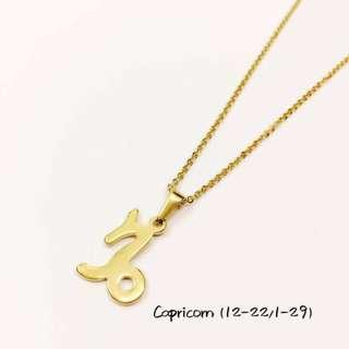 Zodiac sign necklaces/hypoallergenic/non tarnish/use everyday kahit maligo