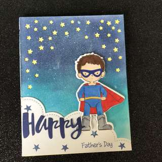 Father day Super hero card