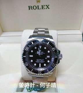全新現貨  未改錶帶 確保全新未用品  Rolex 116660 DEEPSEA  黑面  全套齊 2017錶