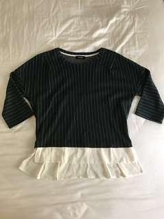 🚚 Max&Co 綠色條紋毛料上衣