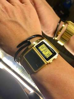 FOR SALE PreLoved: 3k only  Casio  264 #DBC611G-1D Men's Gold Tone 25 Memory Calculator Databank Watch