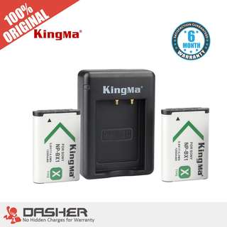 Kingma NP-BX1 Dual Battery with Charger 1250mAh