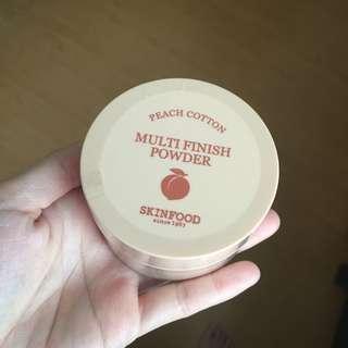 skinfood peach cotton multi finish powder (15g)