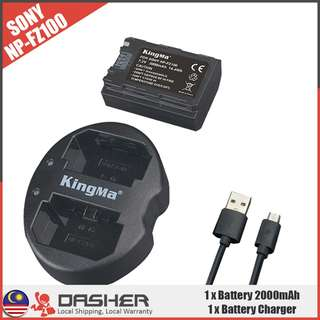 Kingma NP-FZ100 Battery 2000mAh + Dual Slot Charger Kit