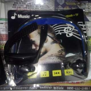 Man bluetooth+TF headset with free watch