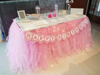 Dessert Table & Backdrop Setup / Props Rental Service