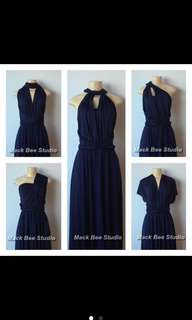 Dark Blue Infinity Dress