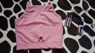 Pink croptop
