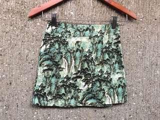 Nature splatter skirt (stretchable)