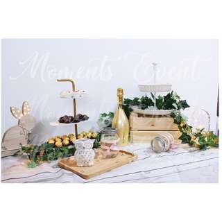Dessert Table Set Rental (Scandinavian themed)