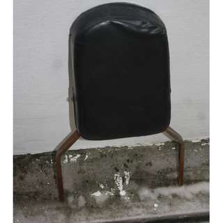 Sissy bar back rest Skull theme taken from Honda Shadow May fit Steed and other cruisers