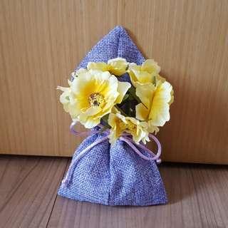 Mini Burlap Drawstring Gift Bag / Party / Wedding Favours