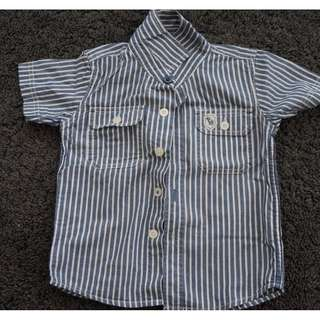Pre-Loved Padini Short Sleeve Shirt for Boy Size 3-4