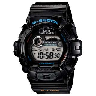 CASIO G-SHOCK G-LIDE series GWX-8900 MULTI BAND 6 電波受信機能 TOUGH SOLAR 光動能 黑色 GSHOCK GWX8900