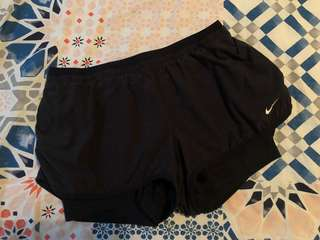 Nike shorts with skins underneath
