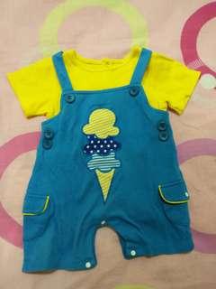 2 piece baby apparel size 6-12M