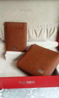 Picard Saffiano zip around wallet and slim card case