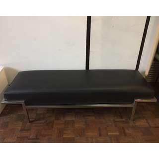Leather Mid Century Bench