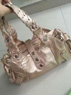 Leather Handbag CHloe Nude Tas jinjing kulit asli warna nude