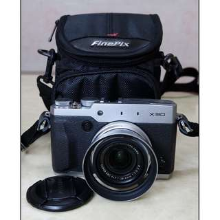 Fujifilm X30,Original Super EBC Fujinon UV Filter + Lens Hood,Leather Case,Original Battery.