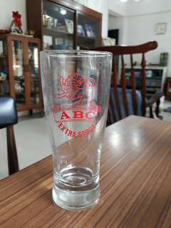vintage ABC Extra Stout glass