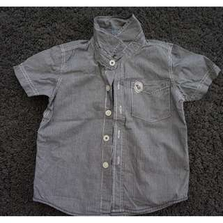 Pre-Loved Padini Short Sleeve Shirt for Boy Size 3-4 (Black)