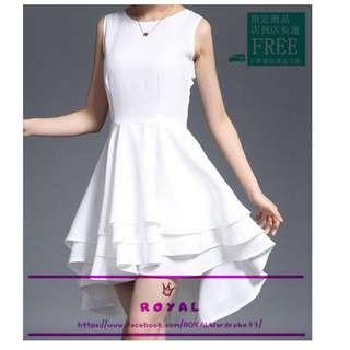 氣質優雅白色燕尾裙禮服/伴娘服 A8478