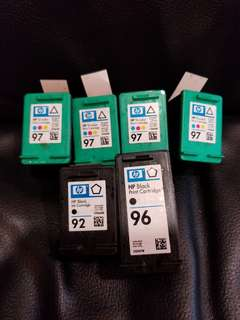 Hp原裝墨盒92 96 97 inkjet printer c9362w c9363w c9767w
