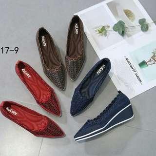 [KELSEY ELEGANT WEDGES 817-9] Sepatu Fashion Wanita Impor Murah
