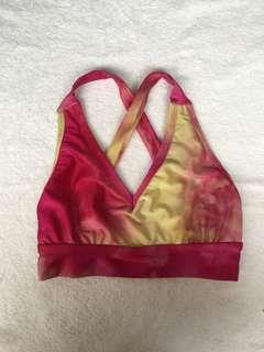 Crisscross tie dye bikini top