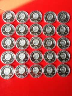 Scarce 5sets of NORTH KOREA rockets  coins issued in 2016,total 25 pcs of 1 ozs pure silver.very low mintages of 500 sets