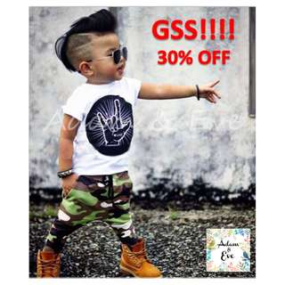 GSS Baby Boy Top & Bottom Set A4 – Army Love Set 13.90 (Now $10)
