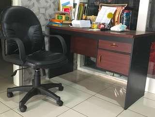 1set meja kerja + kursi