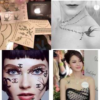 New Chanel tattoo stickers